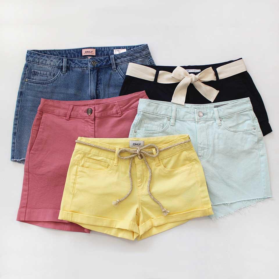 Sélection de shorts colorés